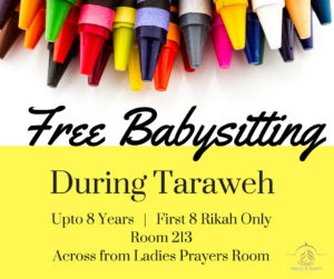 Free Babysitting During Taraweeh