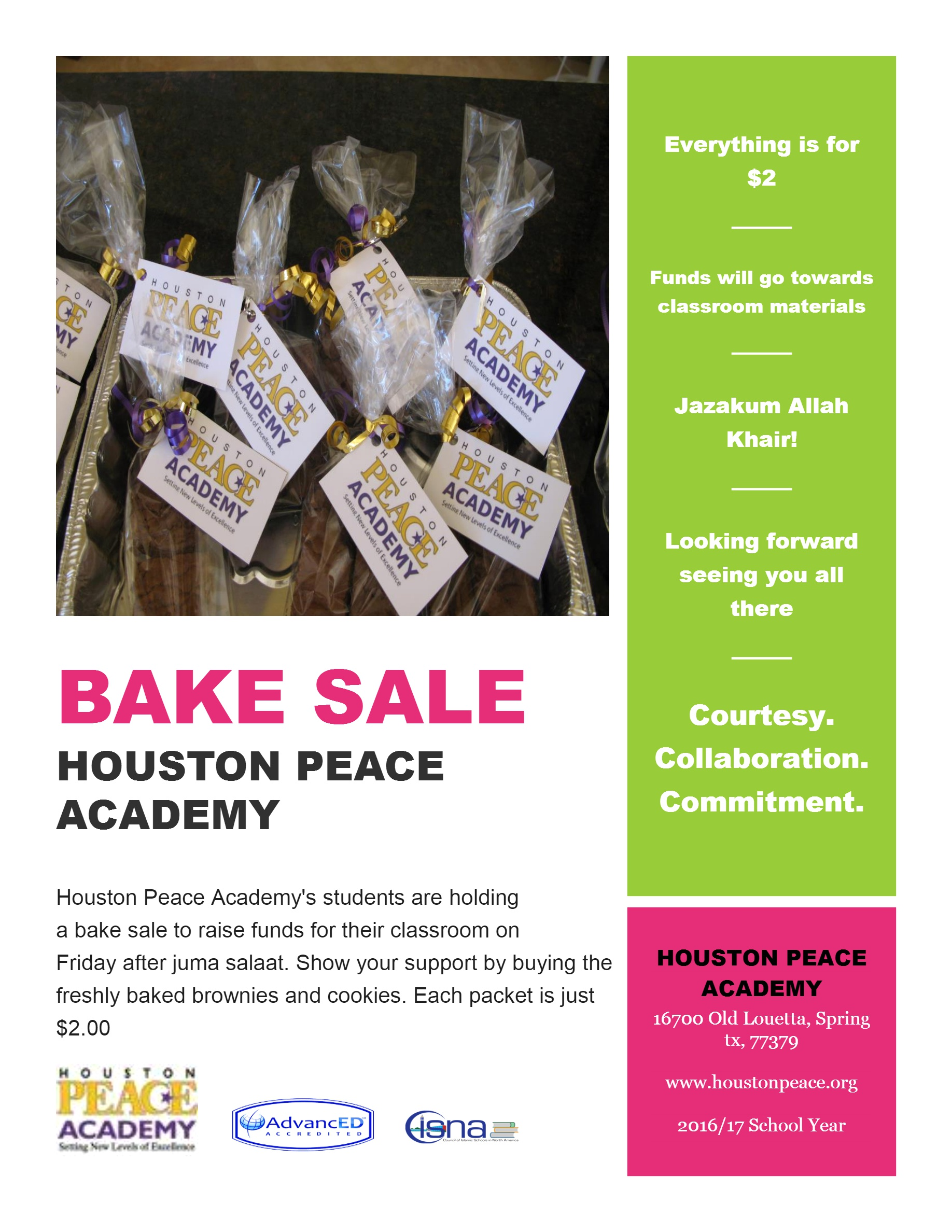 HPA Bake Sales After Jummah