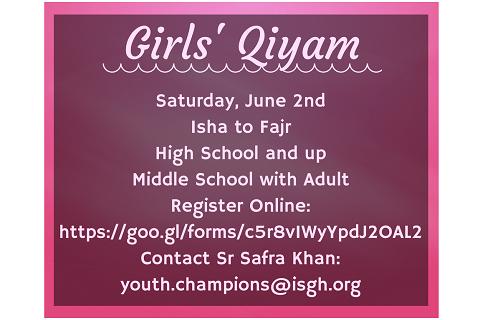 Permalink to: Girls Qiyam Signup