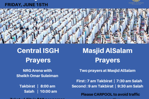 Permalink to: Eid Prayers Announcement