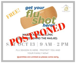 Free Flu Shots - POSTPONED