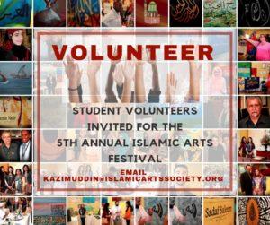 Volunteer at the Islamic Arts Festival