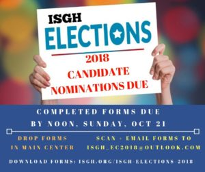 ISGH 2018 Nomination Forms Due