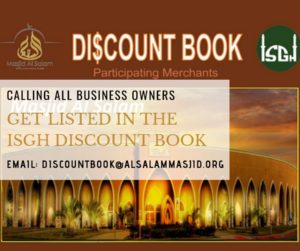Get Listed in the ISGH Discount Book