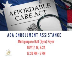ACA (Obamacare) Enrollment Assistance