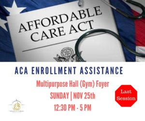 ACA (Obamacare) Enrollment Assistance - LAST SESSION