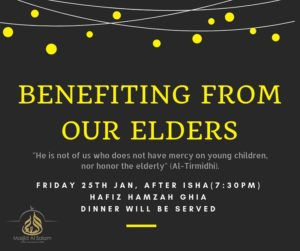 Benefiting from our Elders