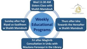 Weekly Education Programs