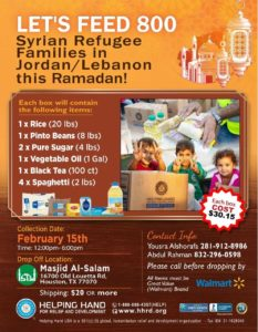 Food Drive for Refugee Families