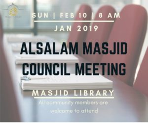 January Council Meeting