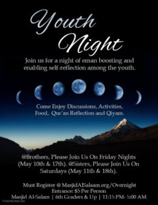 Youth Nights (Overnight) Program