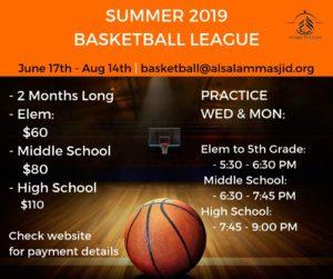 Basketball League – Summer 2019