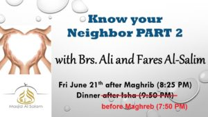 Know Your Neighbor - Part 2