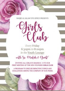 Girls Club - Weekly Sisters (MSers) Discussions & Activities