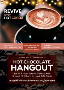 Hot Chocolate Hangout with High School Sisters