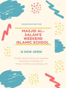 Weekend Islamic School Registration OPEN