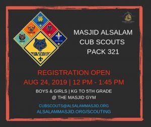 Cub Scout Pack 321 Registration Event