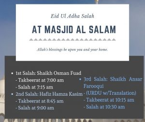 Eid-ul-Adha Prayers
