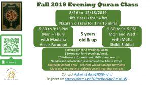 Fall Evening Quran Class