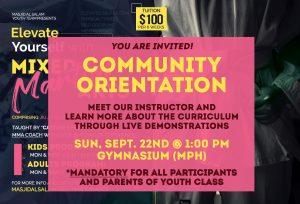 MMA Program - Community Orientation (You Are Invited!)