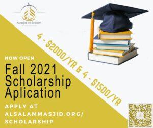 Scholarships Open for 2021
