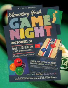 Elem. Youth Game Night [10/31]