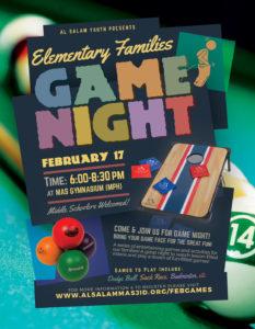 Elem. Youth & Family Game Night [2/17]