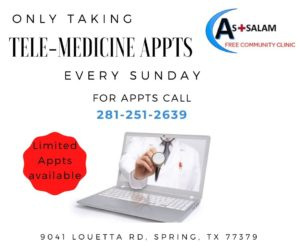 Only TeleMedicine at Assalam Clinic