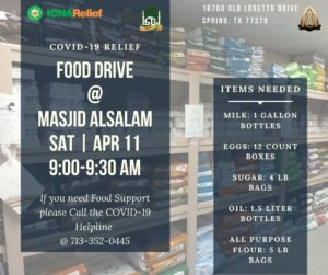 COVID-19 Relief Food Drive