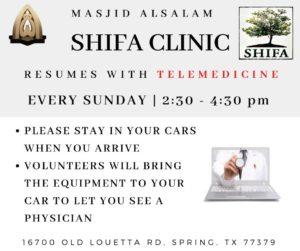 Shifa Salam Clinic Resumes Operation with TeleMedicine