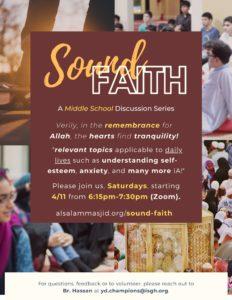 Sound Faith - A Middle School Halaqa [via Zoom]