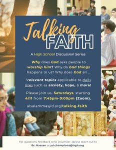 Talking Faith - A High School Halaqa [via Zoom]
