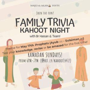 Family Trivia - Kahoot Night! ep.3 (Sundays via FB Live & Zoom)