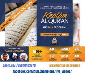 Khatam-ul-Quran and Dua