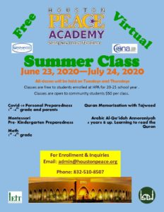HPA Summer Classes