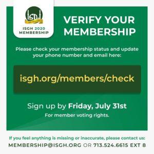 Verify Your ISGH Membership