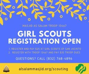 Girl Scouts Registration Open