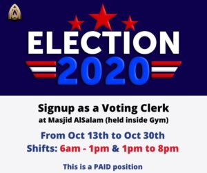 Voting Clerk Positions for Election 2020