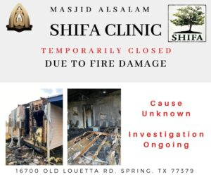 Shifa Salam Clinic Closed Due to Fire Damage - UPDATE