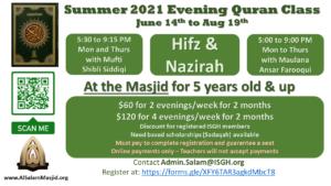 Boys Hifz and Nazirah Summer 2021