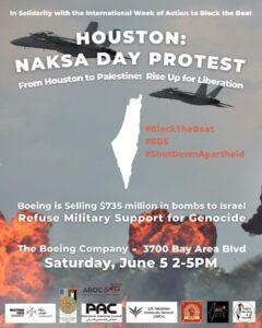 Houston Naksa Day Protest