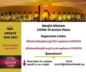 COVID19 Updates for Masjid AlSalam