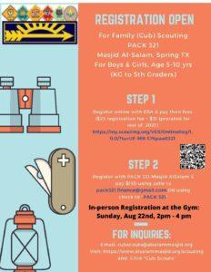 Cub Scouts Registration Open