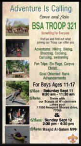 Join Masjid AlSalam's Boy Scouts